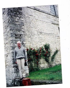 Dad in France on VE Day